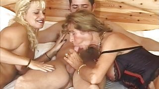 German grannies work on young dick