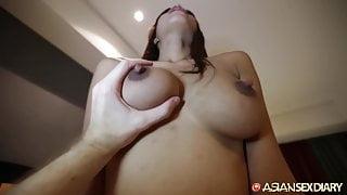 ASIANSEXDIARY Busty Asian Babe Fucked Doggystyle