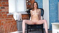 Stunning Russian mom Bridget Flash playing with herself