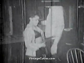 Gay rights in the 1950s Old man gets a blowjob from a girl 1950s vintage