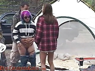 Colorado teen - Colorado camping sex part 2 - warming the girls up