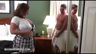 Her boss was in the shower