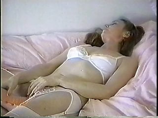 Big vibrator masturbate Brunette fucks her pussy with big vibrator