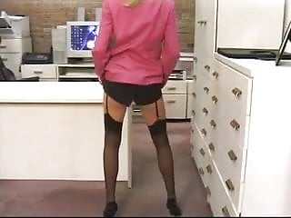 Piss wet nylons - Sexy blond slut fingers her wet pink pussy