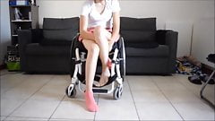 Paraplegic Girl Spasm without shoes