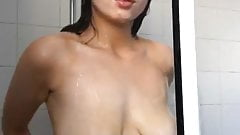 Hot busty is taking a shower 2-3