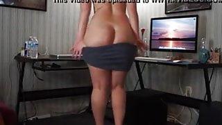 Big ass webcam strip