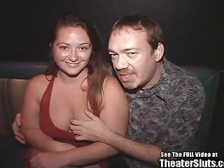 Corelia in porno - Chubby beauty blowbang in porno theater