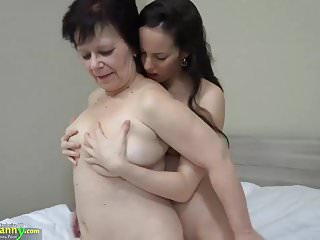 Old fat lesbians sex Oldnanny hot girl with strapon fucks big fat granny