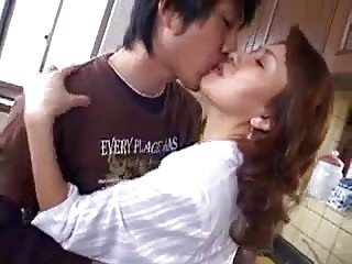 Your asian Cum kiss your mom