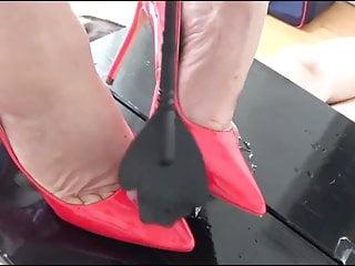 Big cum milf shot tit - Milf cock trampling and footjob a big cum shot