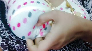 Tamil hot married girl showing her boobs to house owner