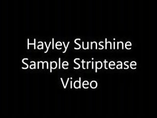 Sunshine strip teens Hayley sunshine strip tease preview
