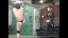 Japanese Femdom whips against a slave