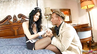 PAWG Maid Seduce to Rough Fuck by Boss when his Wife away