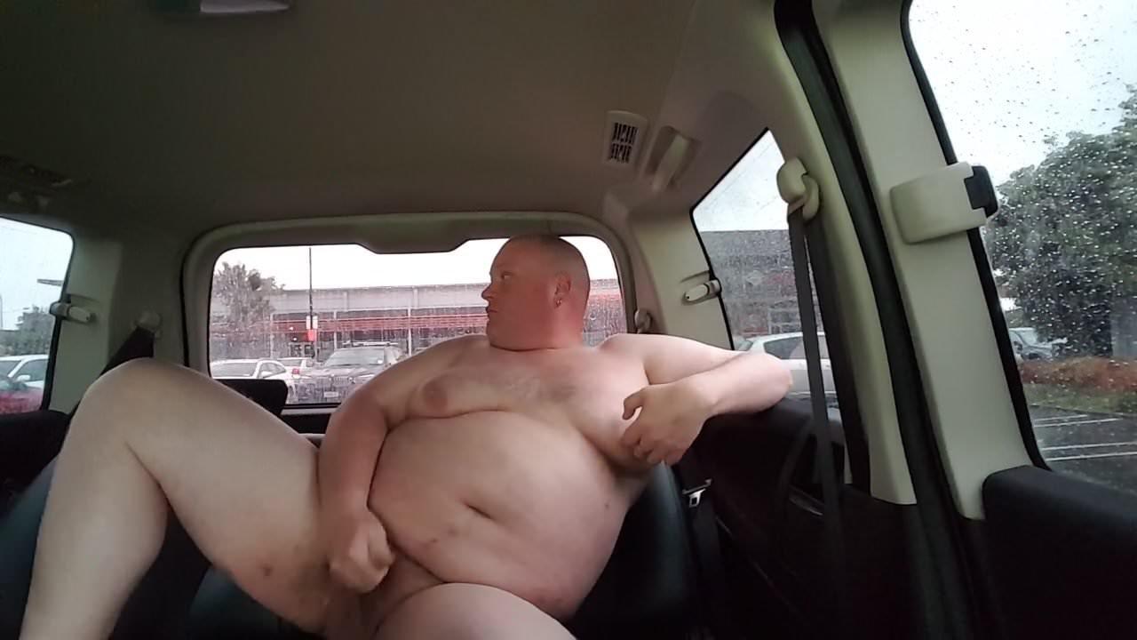 Chubby Public Masturbation Car