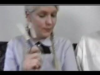 Clingfilm fetish smother - Dominant dolls - sadistic smothering schoolgirl