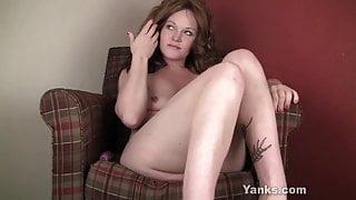 Yanks Redhead Lori Jones Masturbates