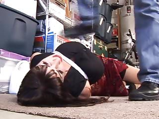 Woman in bondage movie - Woman in garage