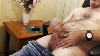 grandpa cum with his big cock