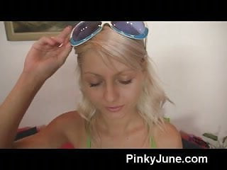 Pinky teens sluts Petite pinky june masturbates with fetish toys