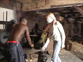 Women cock teasing men - Blonde german girl fucked hard by african men