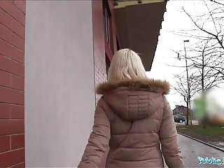 Video cash for sex - Public agent hot blonde lucy shine takes cash for sex