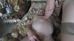 Lena gets all holes fucked by 2 men