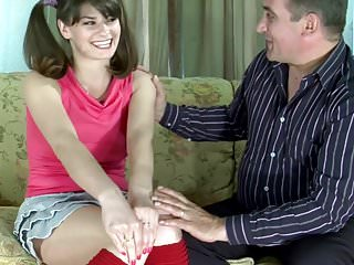 Convinced to blowjob - Young girl convinced by older man
