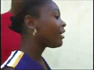 Ebony black skinny pussy Ebony cheerleader delores