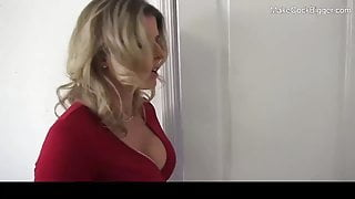 Cute MILF with big natural tits and big ass fucked. Hot slut