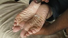 Sperm as Foot Lotion - for Gus