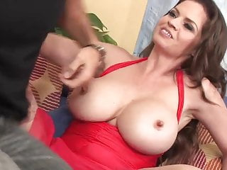 Tits in paim Mature big tits in stockings fucks on the sofa
