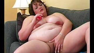 fat sucking and fucking with toy