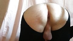 fucking my ass with dildo