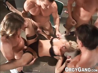 Porn videos with men One porn actress has some fun with four horny and stiff men