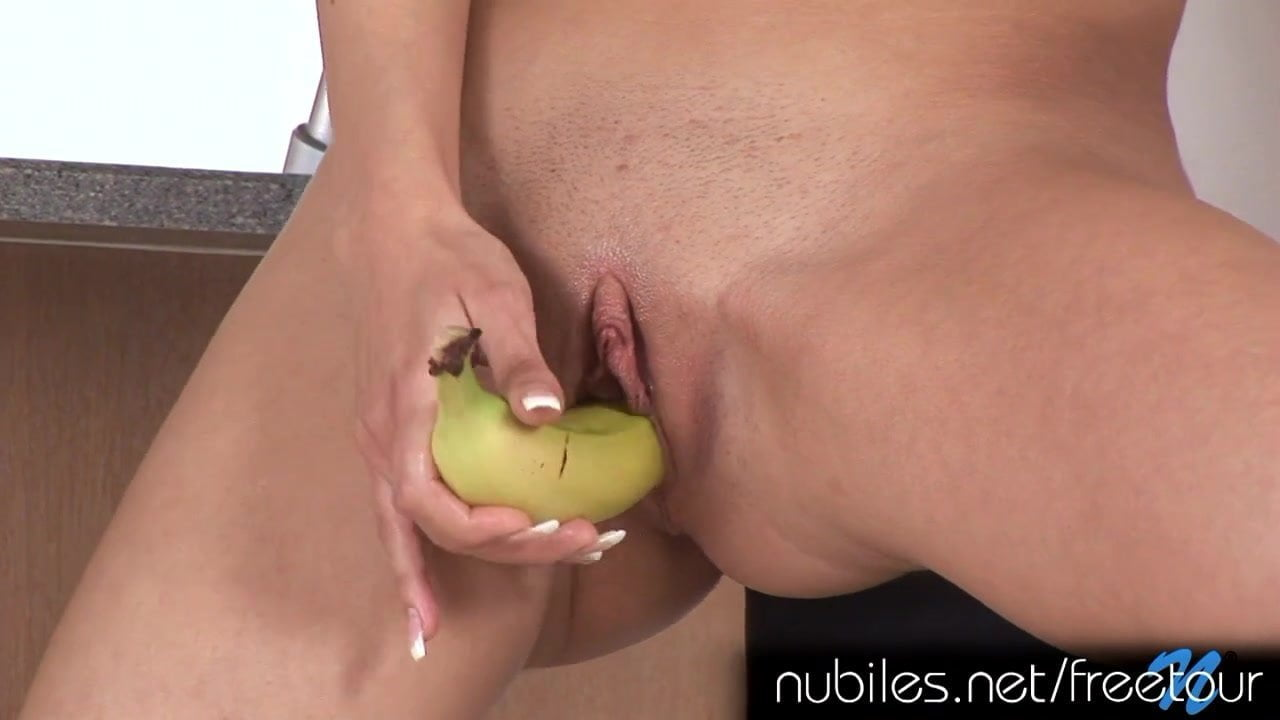 Fucking A Banana Peel With Multiple Cum