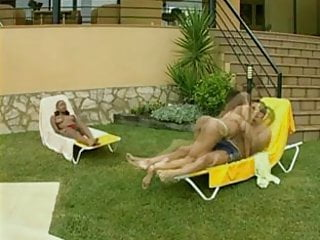 Sex scene from the swimming pool - Two big ass babes fucks hard on swimming pool