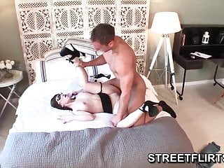 Perfect ten giving blowjob Spanish milf wearing glasses loves to give perfect blowjob