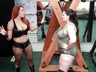 Woman wrestling and bondage - April hunter and miss rachel - strip wrestling