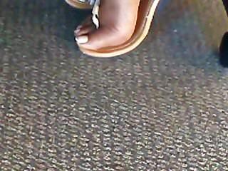 Ebony mature videos - Candid ebony mature office feet pt 1