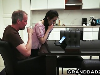 Old seniors orgasm videos - Skinny petite vera seduces senior steve steel