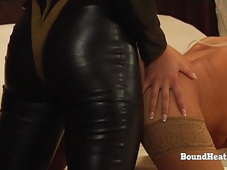 Girl fucked hard during massage Bent over lesbian slaves moaning during hard strapon fuck