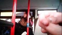She looks at bus flasher.mp4