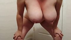 38H tits Lateshay - slut in black mini