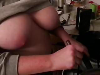 Sexy girl cooking Sexy wife tits out cooking