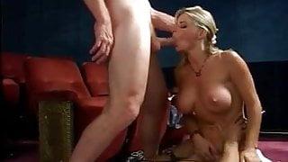 Vicky Vette - Hot Threesome in a Cinema