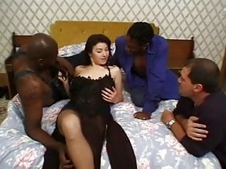 Private inces sex tube Gangbang and dp of stockings brunette, inc interracial.
