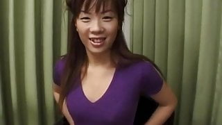 Ami Nishimura with hot ass gets vibrator and fingers in crac