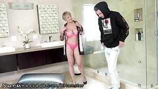 NuruMassage Tailed Friends StepMom 2 Work & She Massaged My Dick